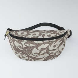 Leather pattern. Branches Fanny Pack
