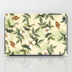 Delicate pattern with flowers and butterflies hips iPad Case