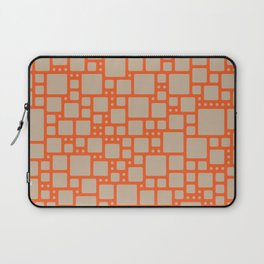abstract cells pattern in orange and beige Laptop Sleeve