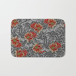 Floral grey Bath Mat
