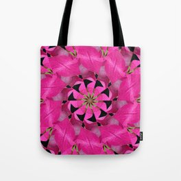 Pink Hydrangea Kaleidoscope Tote Bag