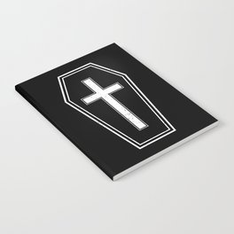 Classic Horror Distressed Gothic Coffin Notebook