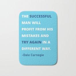 Dale Carnegie Quote Poster Bath Mat