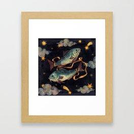 Zodiac sign Pisces Framed Art Print