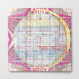 The System - pink motif Metal Print