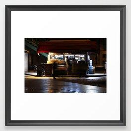convenience store Framed Art Print