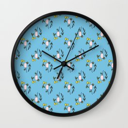 Lavender Lemonade Wall Clock