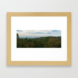 Rural layers Framed Art Print