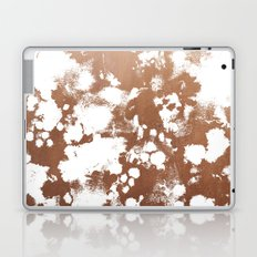 Rose Gold shiny metal sparkle modern pattern abstract rosegold trendy pattern cell phone accessories Laptop & iPad Skin