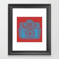 I Still Shoot Film Holga Logo - Red & Blue Framed Art Print