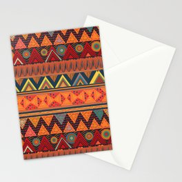 Tribal Ethnic (earth colors) Stationery Cards