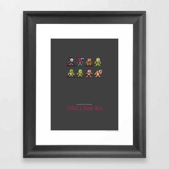 Mega MotU: Horde & Snake Men Framed Art Print