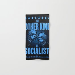 """Vintage Poster """"The Other Kind of Socialist"""" Alcoholic Lithograph Advertisement in dark blue Hand & Bath Towel"""