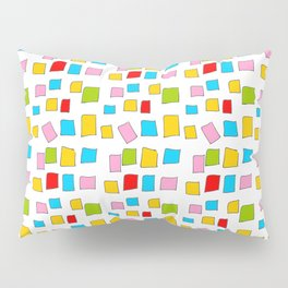rectangle and abstraction 3-mutlicolor,abstraction,abstract,fun,rectangle,square,rectangled,geometri Pillow Sham
