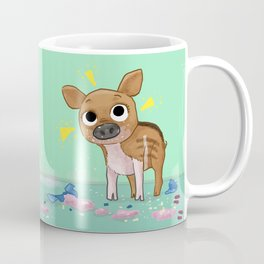 brown pigsy Coffee Mug