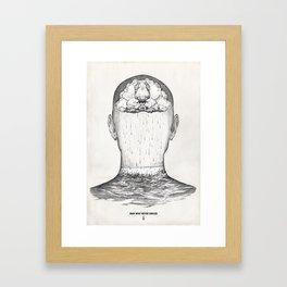 man who never smiled Framed Art Print