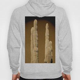 Sepia Bleached Saguaro Cactus Hoody