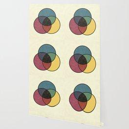 Matthew Luckiesh: The Subtractive Method of Mixing Colors (1921), vintage re-make Wallpaper
