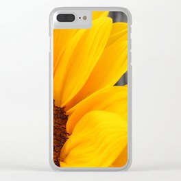 Sunflower Docks Clear iPhone Case