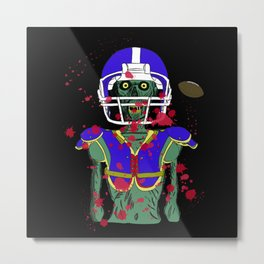 Zombie Football Player Metal Print