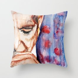 I'm Your Man, illustration by Ines Zgonc Throw Pillow