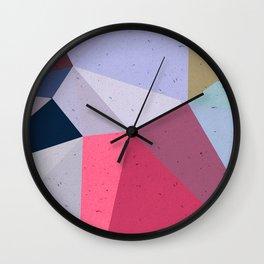 Colourful geometry Wall Clock