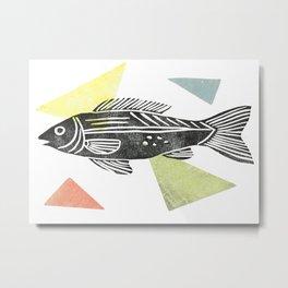 fish stamp III Metal Print