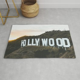 Hollywood Sign (Los Angeles, CA) Rug