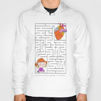 labyrinth Hoodies featuring labyrinth by Christina Tsevis