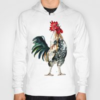 rooster Hoodies featuring Rooster by Bridget Davidson