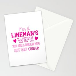 Lineman's Wife Stationery Cards