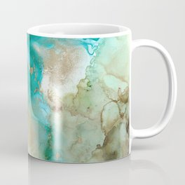 Alcohol Ink 'Mermaid' Coffee Mug