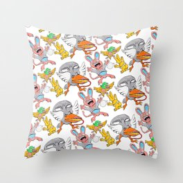 Mad Pattern Throw Pillow
