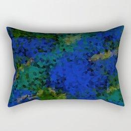 Peacock crystal mosaic Rectangular Pillow