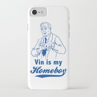 dodgers iPhone & iPod Cases featuring Vin is my homeboy by GOGILAND