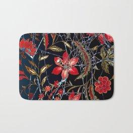 Spider Web Floral Pattern Bath Mat