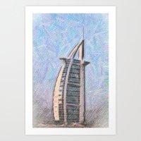 arab Art Prints featuring Burj Al Arab by Christine Becksted Images