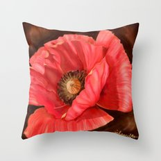 Red Poppy Two Throw Pillow
