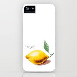 be healthy: lemon iPhone Case