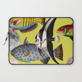 Fish World yellow Laptop Sleeve