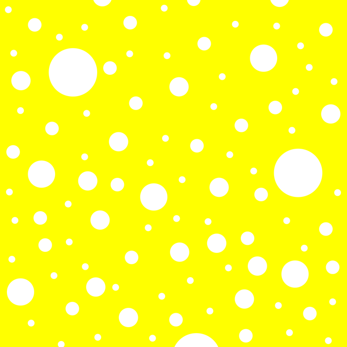 Mixed Polka Dots - White on Yellow Comforters
