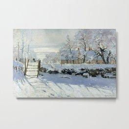 Claude Monet - The Magpie Metal Print