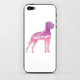 Lovingly Boxermom Dog Mom Hunde Mama iPhone Skin