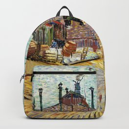 The Factory (1887) by Vincent Van Gogh Backpack