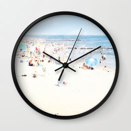Blue Beach Brooklyn Wall Clock