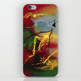 Planet Flow - abstract painting by Rasko iPhone Skin