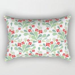 Flower pattern Retro Rectangular Pillow