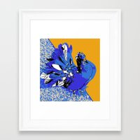 pigeon Framed Art Prints featuring Pigeon by Aimee St Hill