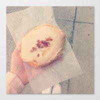 doughnut Canvas Prints featuring doughnut by melanielaurene