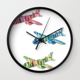 Plane Ride - Paper Cut Artwork Wall Clock
